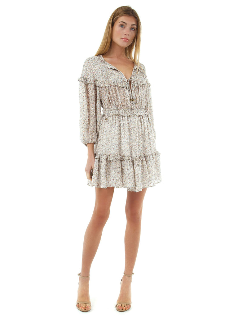 Women outfit in a dress rental from Bishop + Young called Patch Pocket Canopy Stripe Dress
