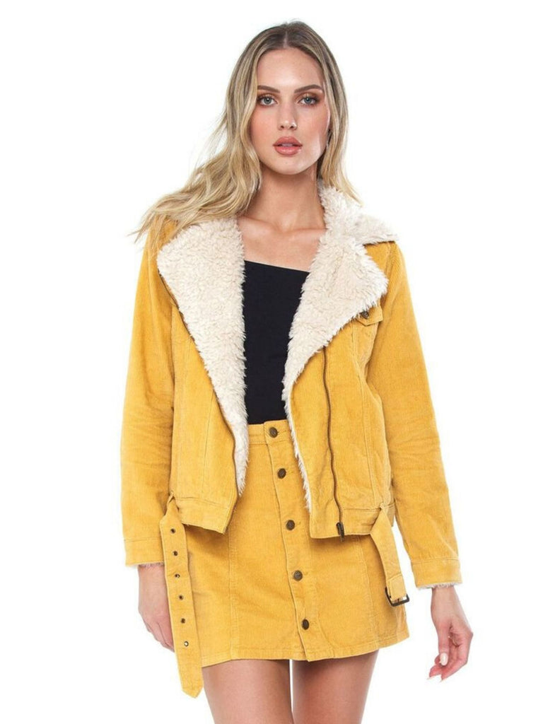 Women wearing a jacket rental from MINKPINK called Fab Moment Faux Fur Jacket