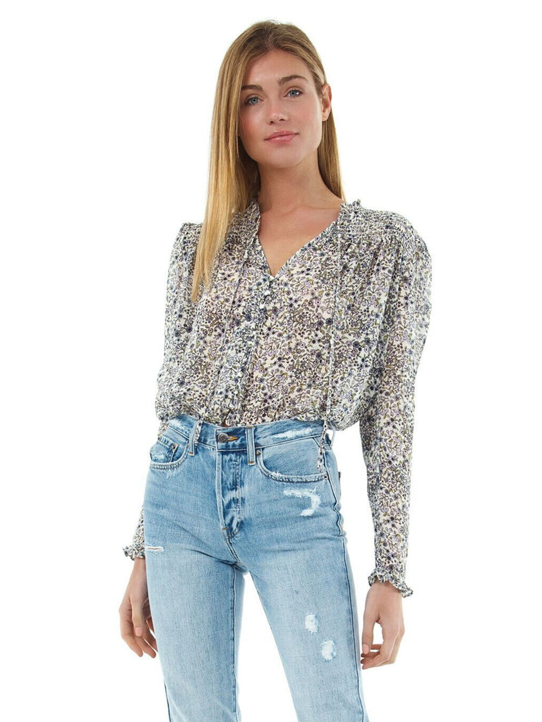 Women outfit in a top rental from Free People called Cheetah Printed Denim Jacket