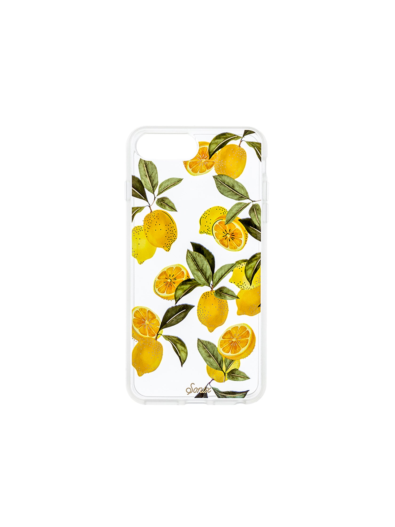 Women outfit in a phone case rental from Sonix called Lemon Zest Iphone Case