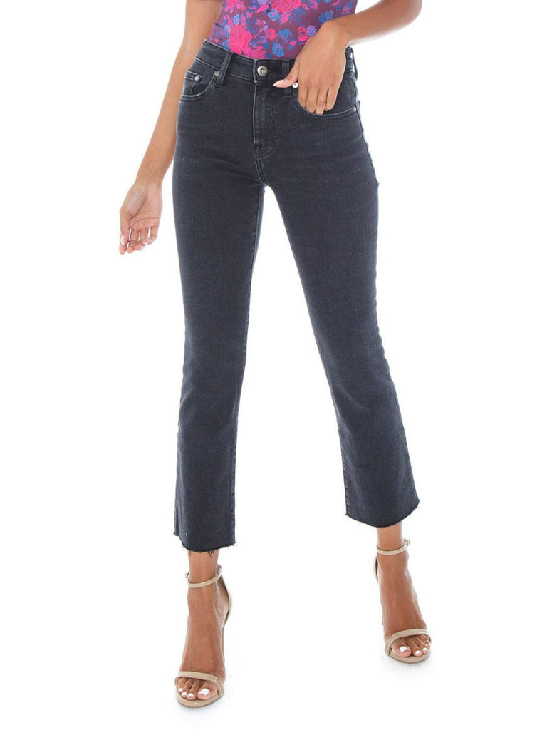 Girl outfit in a denim rental from PISTOLA called Alessa Track Pant