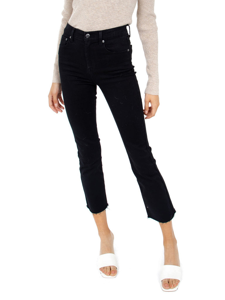 Girl wearing a pants rental from PISTOLA called Cropped Farah Trouser