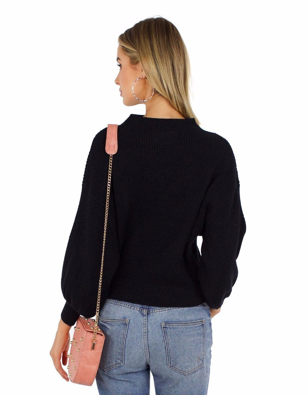 Women wearing a top rental from Line & Dot called Balloon Sleeve Pullover Sweater