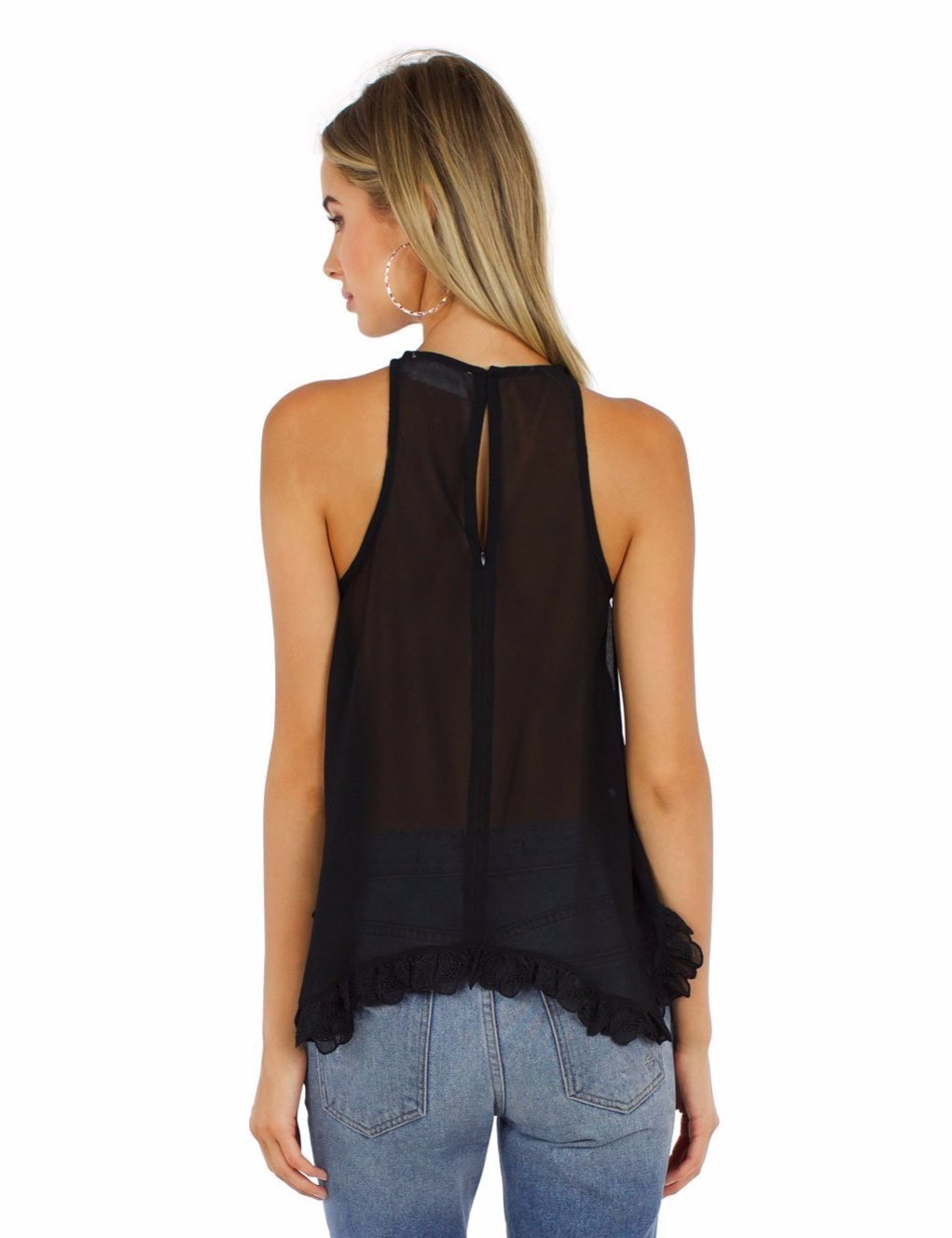 Women wearing a top rental from Line & Dot called Ramon Halter Top