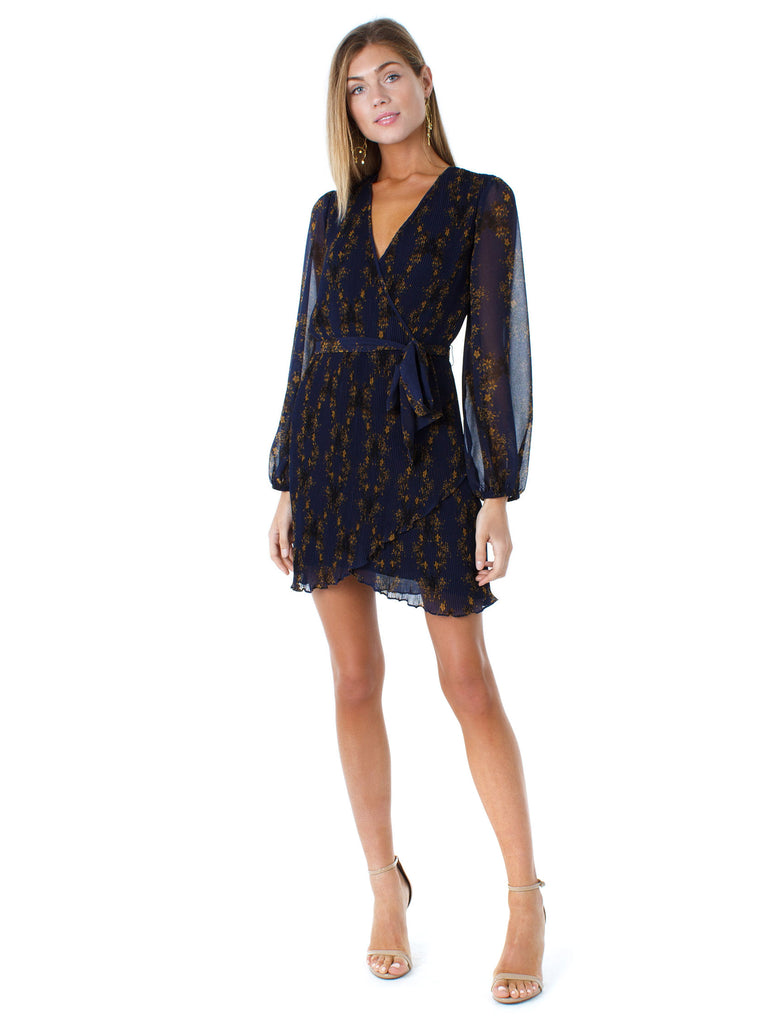 Women outfit in a dress rental from 1.STATE called Topanga Mini Dress