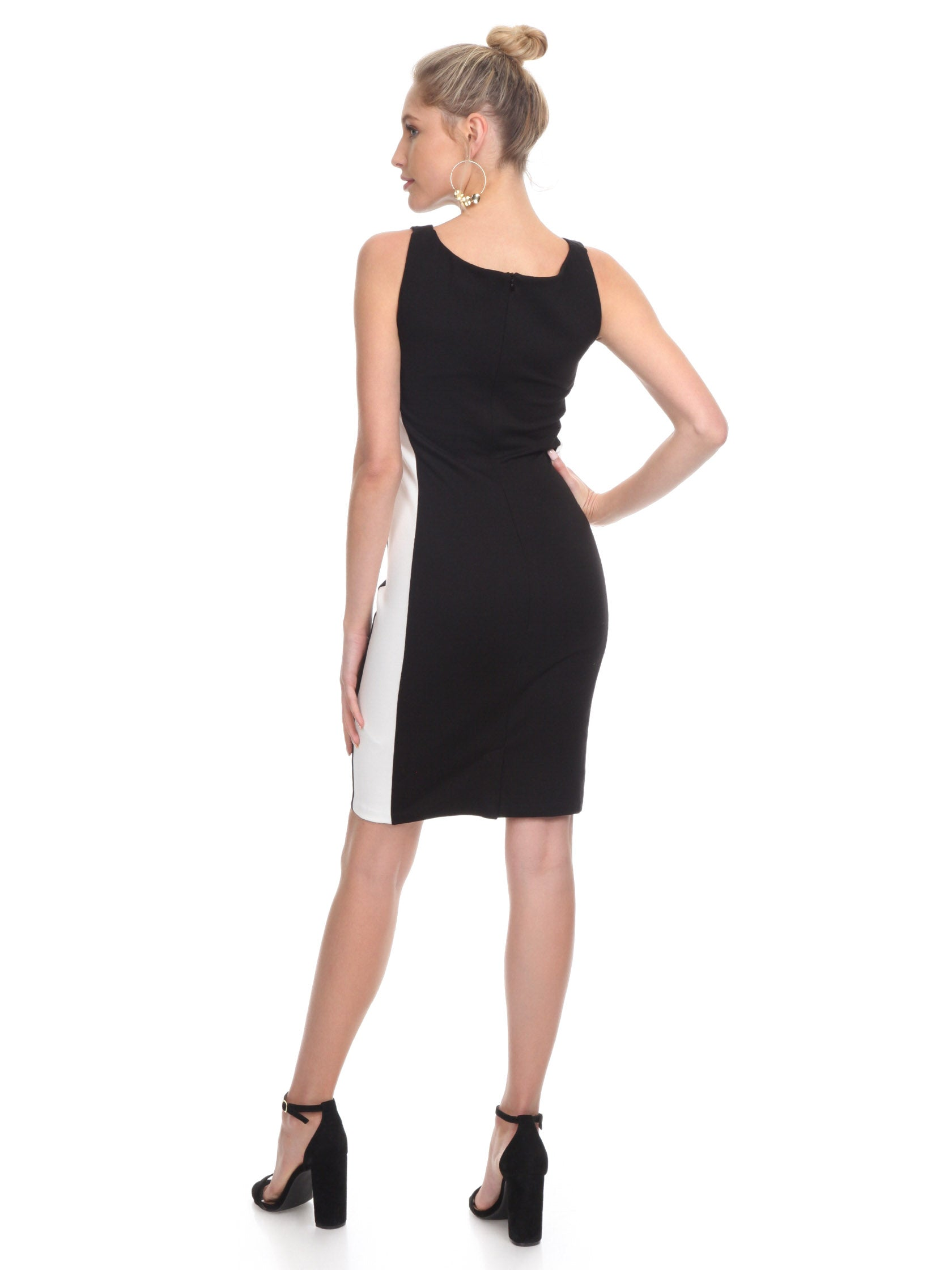 Women wearing a dress rental from French Connection called Lore Lula Ponte Bodycon Dress