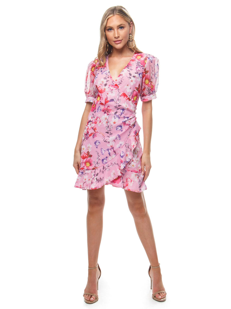 Women wearing a dress rental from BARDOT called Lorita Floral Dress