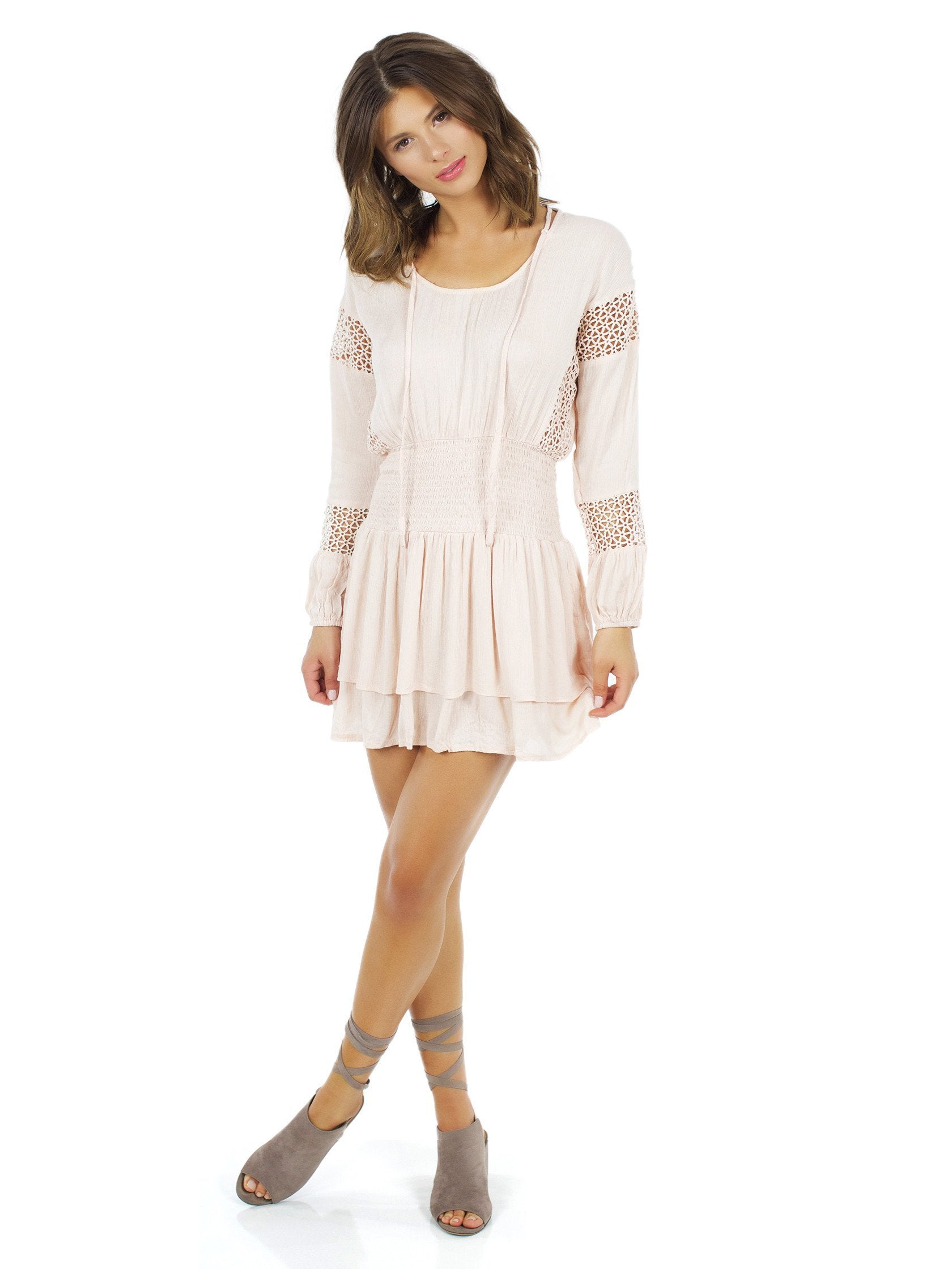 Girl outfit in a dress rental from Lost In Lunar called Escape Tunic Dress