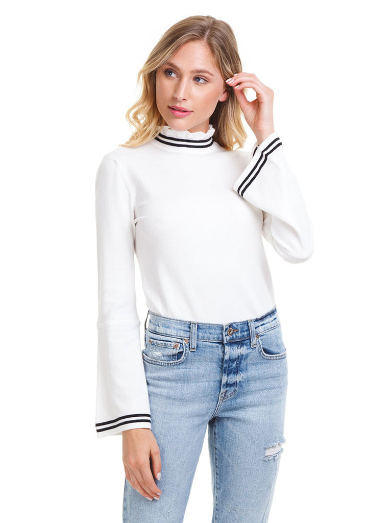 Women outfit in a sweater rental from BB Dakota called Laurel Canyon Drawstring Top