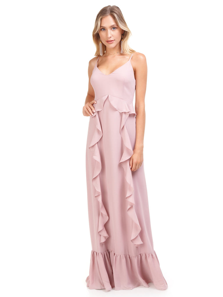 Women outfit in a dress rental from WAYF called Rachel Strapless Gored Maxi Dress