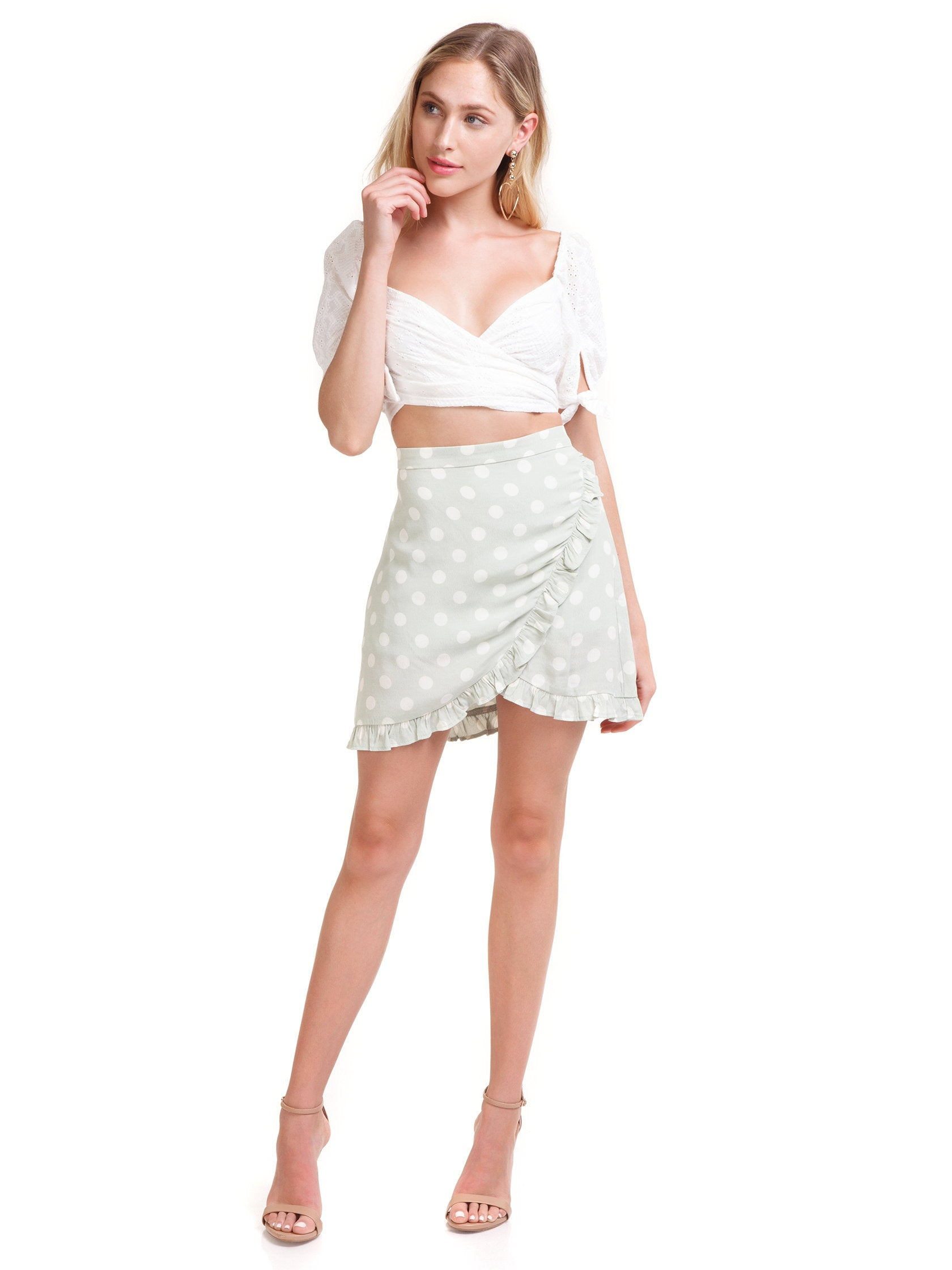Girl outfit in a skirt rental from Capulet called Madeline Skirt