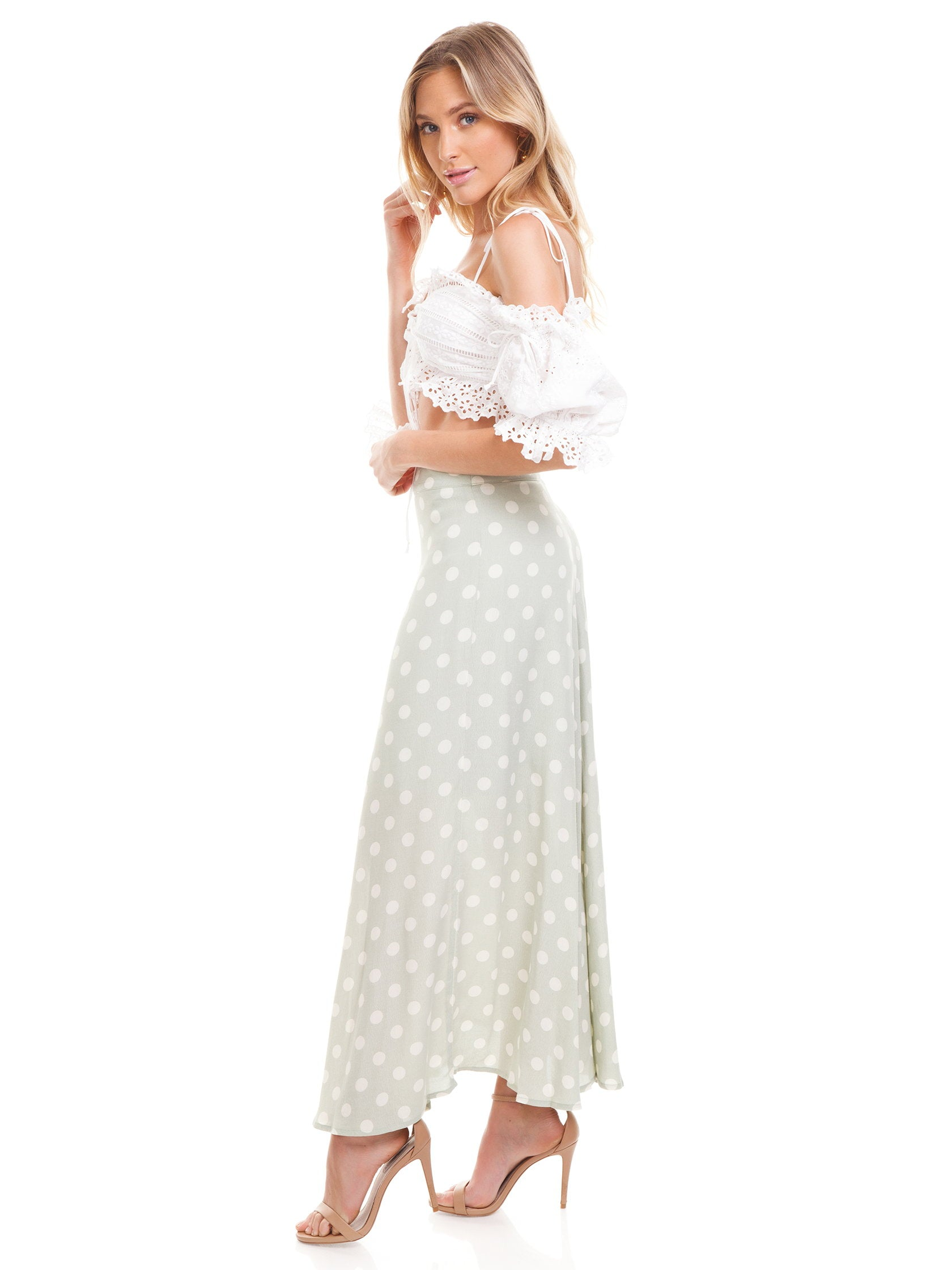 Girl outfit in a skirt rental from Capulet called Madie Midi Skirt