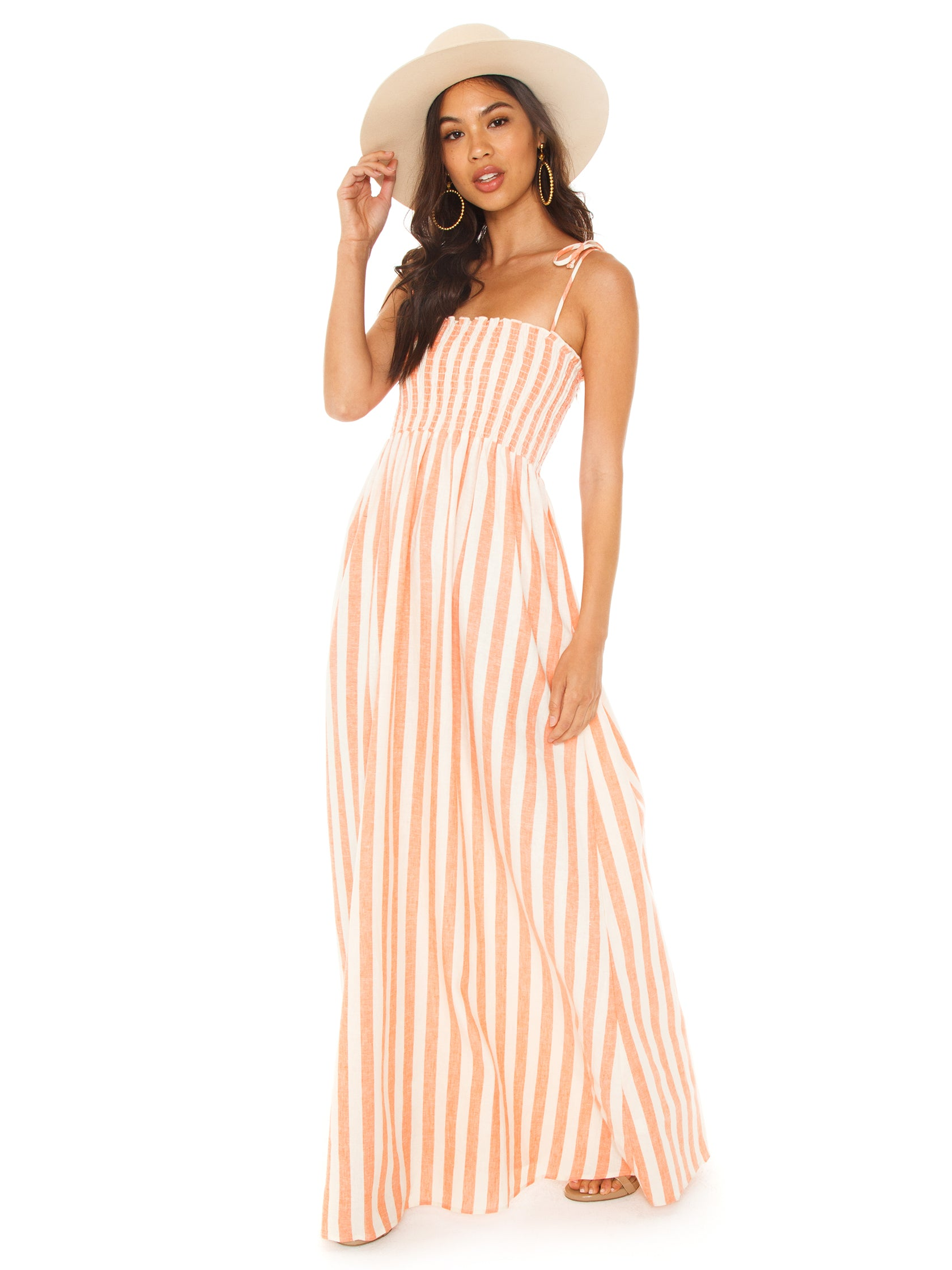 25a2b2b87ce Girl outfit in a dress rental from Show Me Your Mumu called Maggie Maxi  Dress