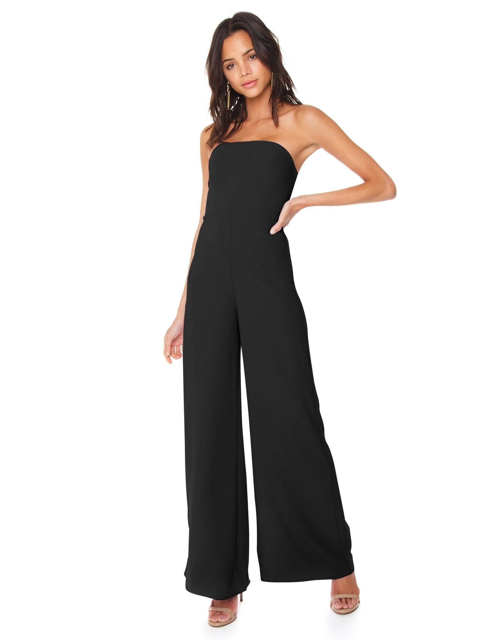 Women wearing a jumpsuit rental from Amanda Uprichard called Mandy Jumpsuit