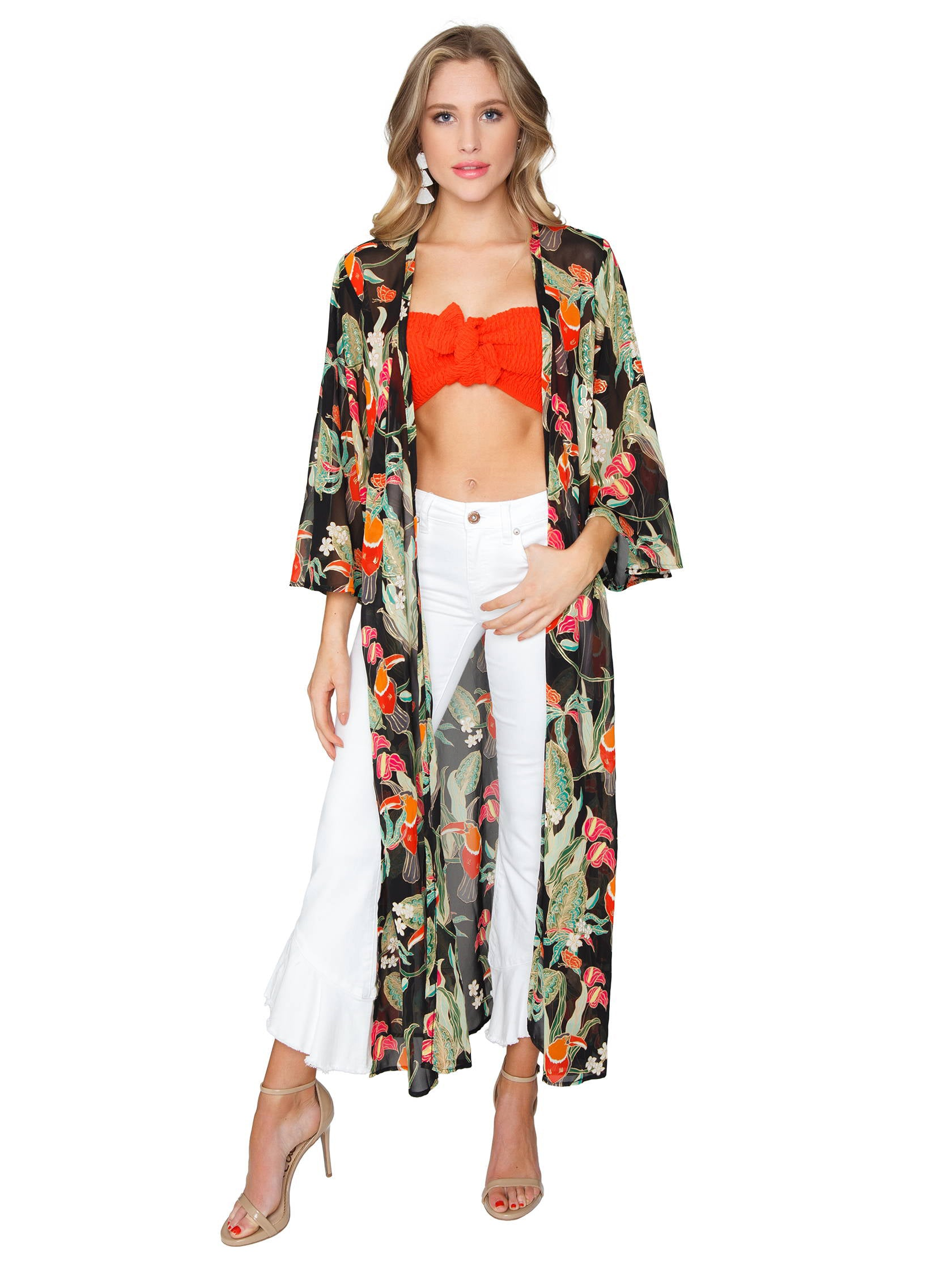 Woman wearing a jacket rental from Show Me Your Mumu called Marissa Cape