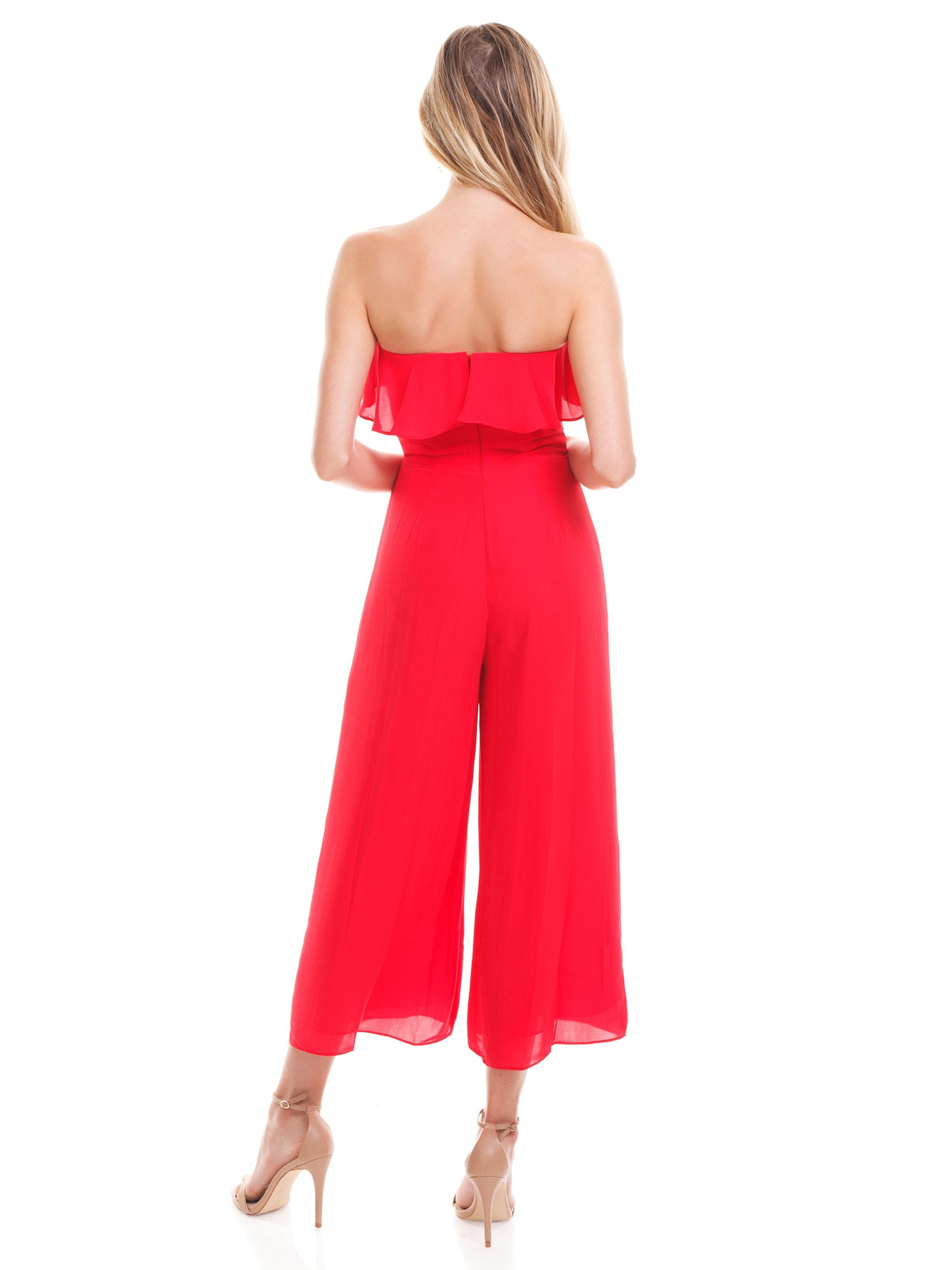 Women wearing a jumpsuit rental from Amanda Uprichard called Matisse Jumpsuit