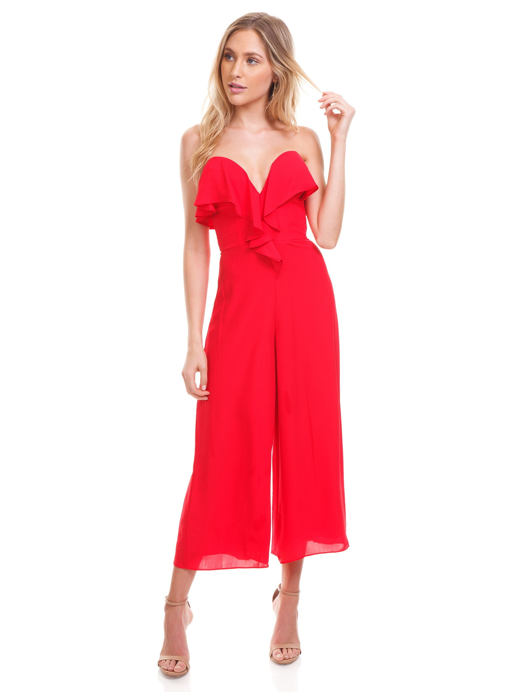 Girl outfit in a jumpsuit rental from Amanda Uprichard called Matisse Jumpsuit