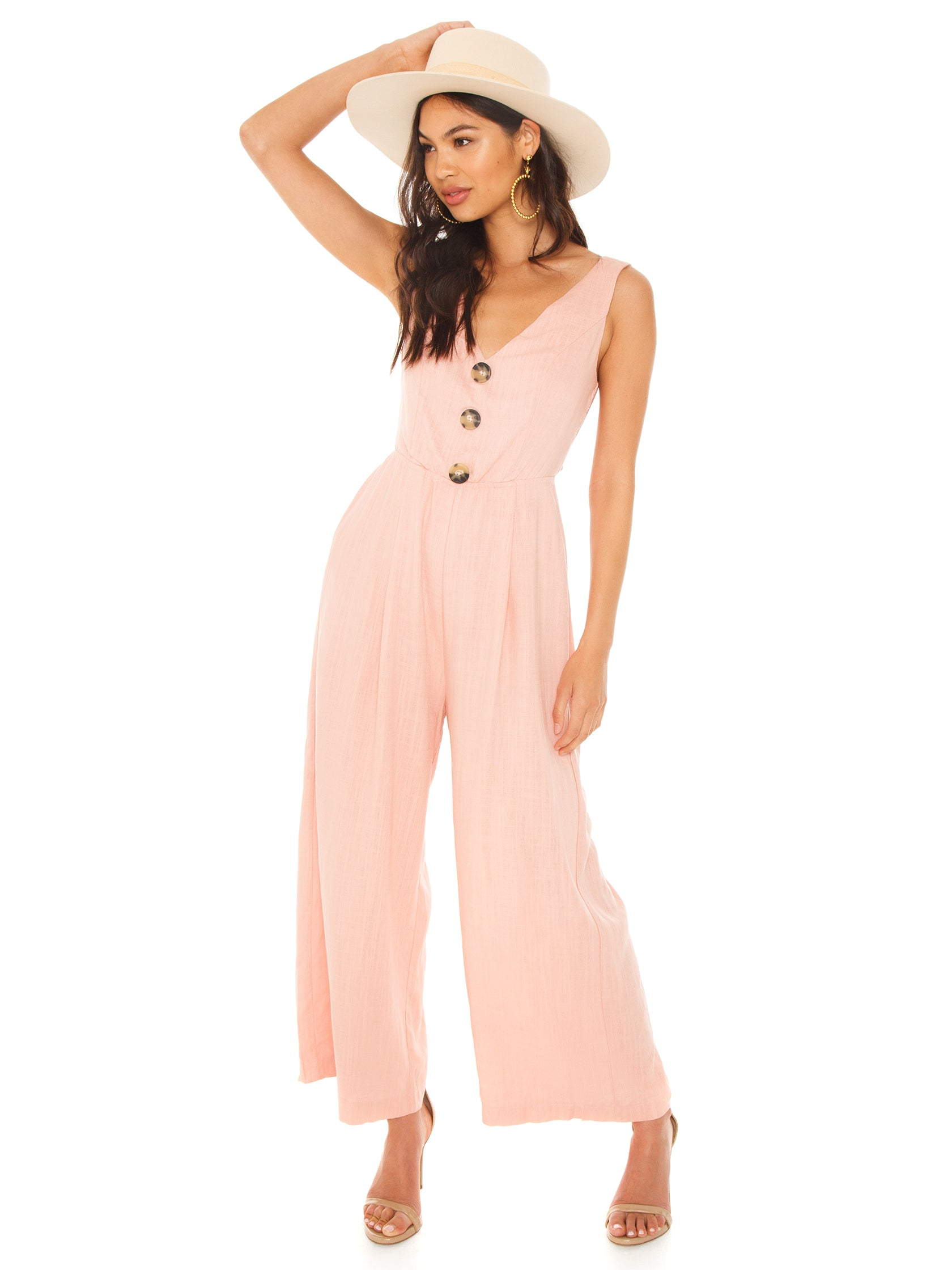 Girl outfit in a jumpsuit rental from Lost In Lunar called Maya Pantsuit