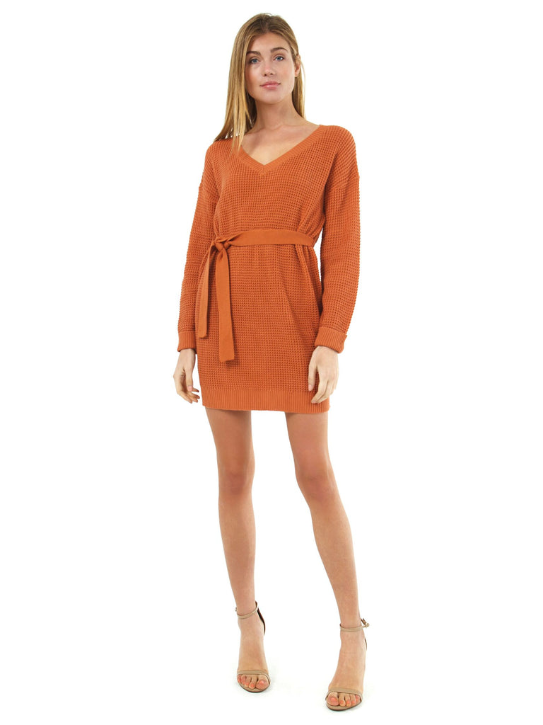 Women wearing a dress rental from MINKPINK called Zella Sweater