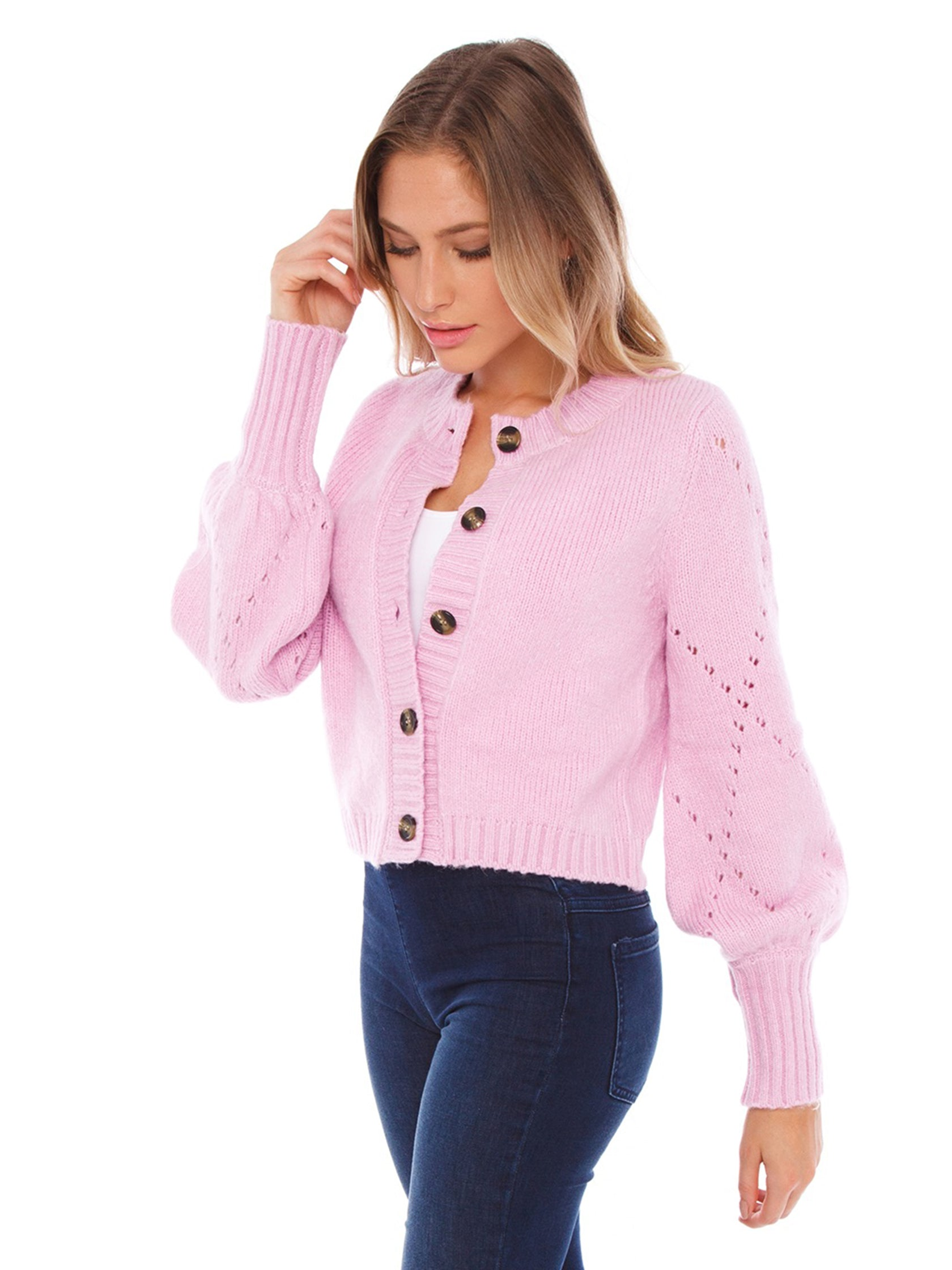 For Love Lemons Rentals Mia Pointelle Cardigan Fashionpass Go