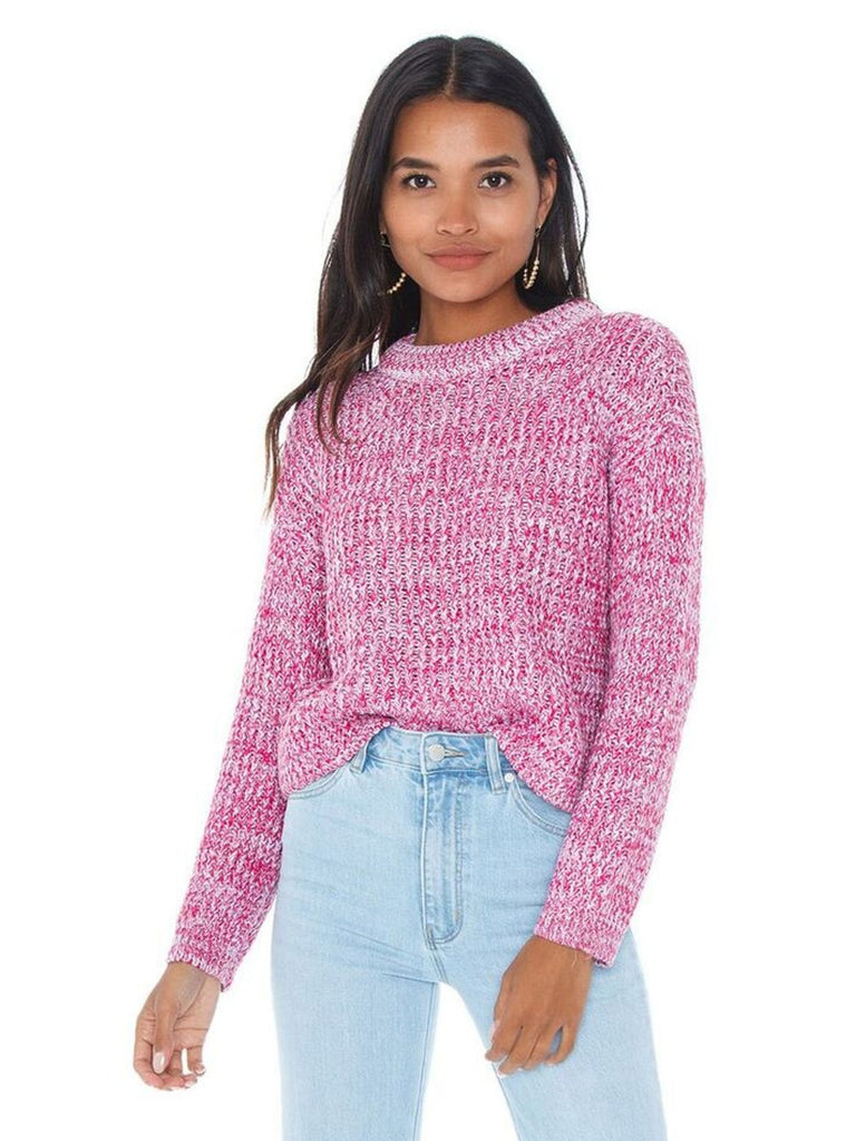 Woman wearing a sweater rental from MINKPINK called Leonardo Knit Jumper