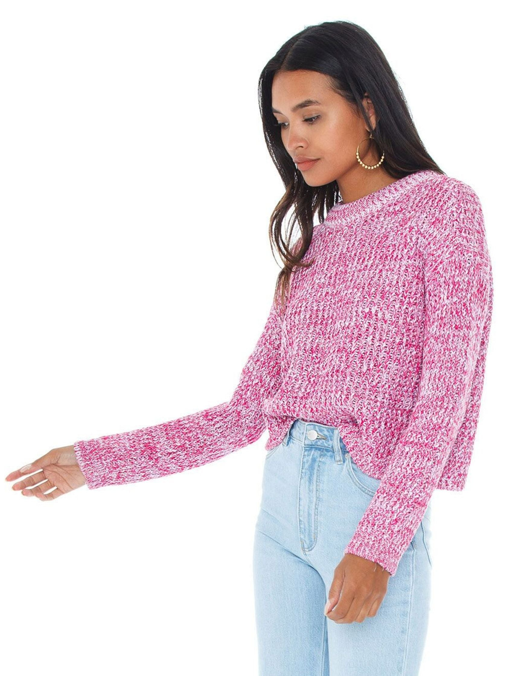 Women wearing a sweater rental from MINKPINK called Mikaela Knit Jumper