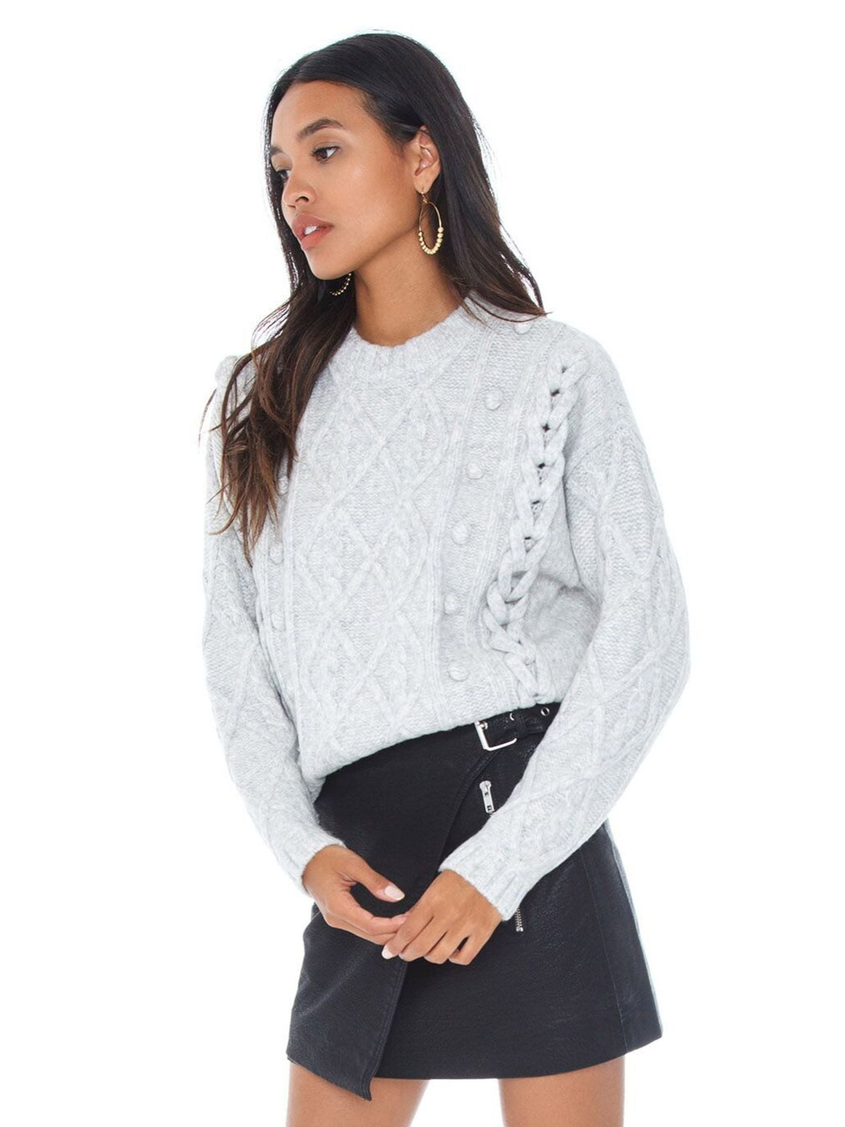Women wearing a sweater rental from Line & Dot called Mila Sweater