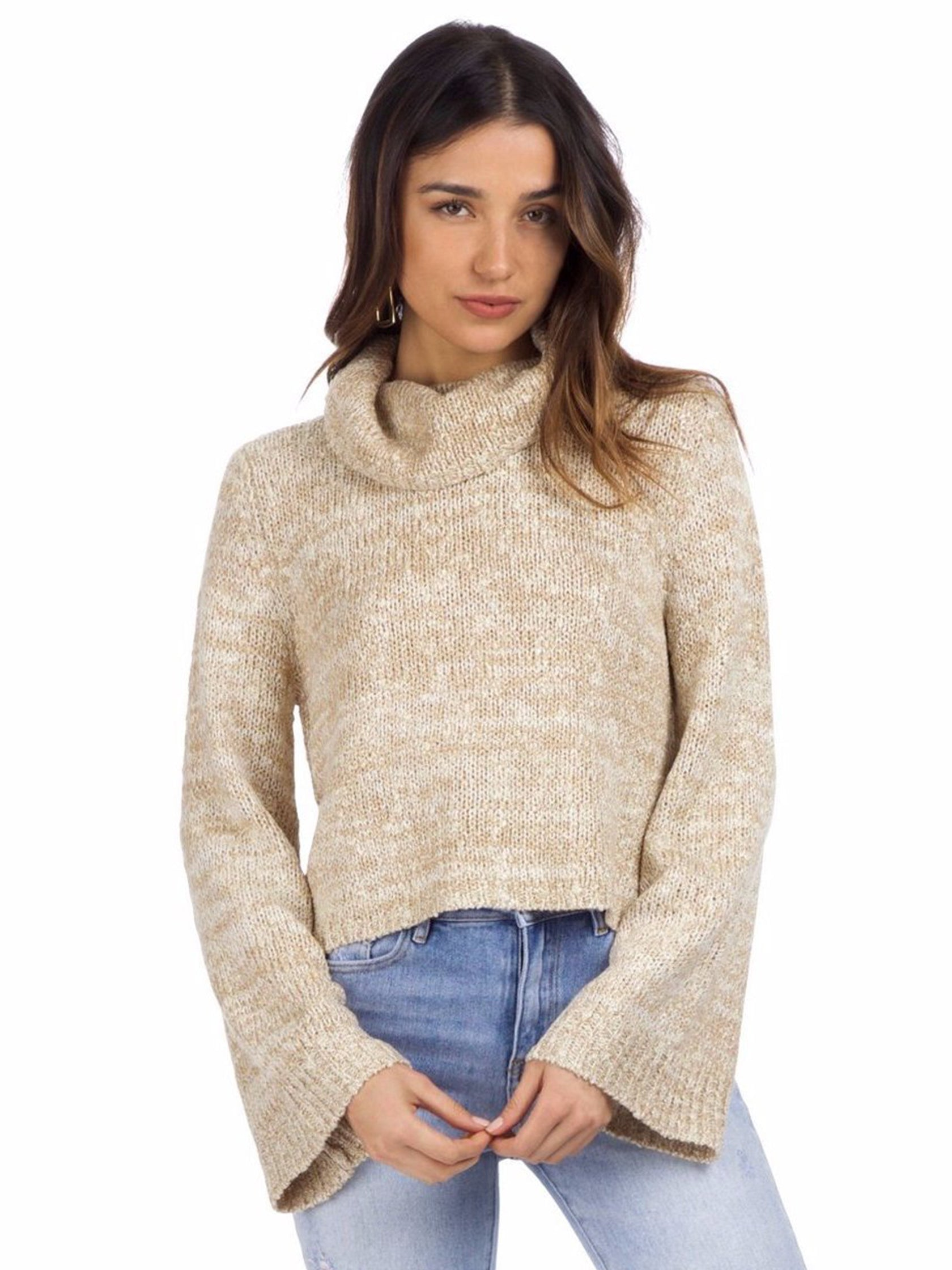 Woman wearing a sweater rental from MINKPINK called Duchess Full Sleeve Sweater