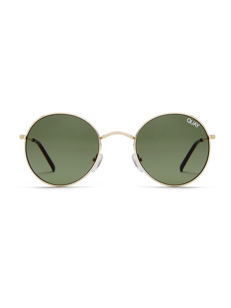 Women wearing a sunglasses rental from Quay Australia called High Key Mini 57mm Aviator Sunglasses