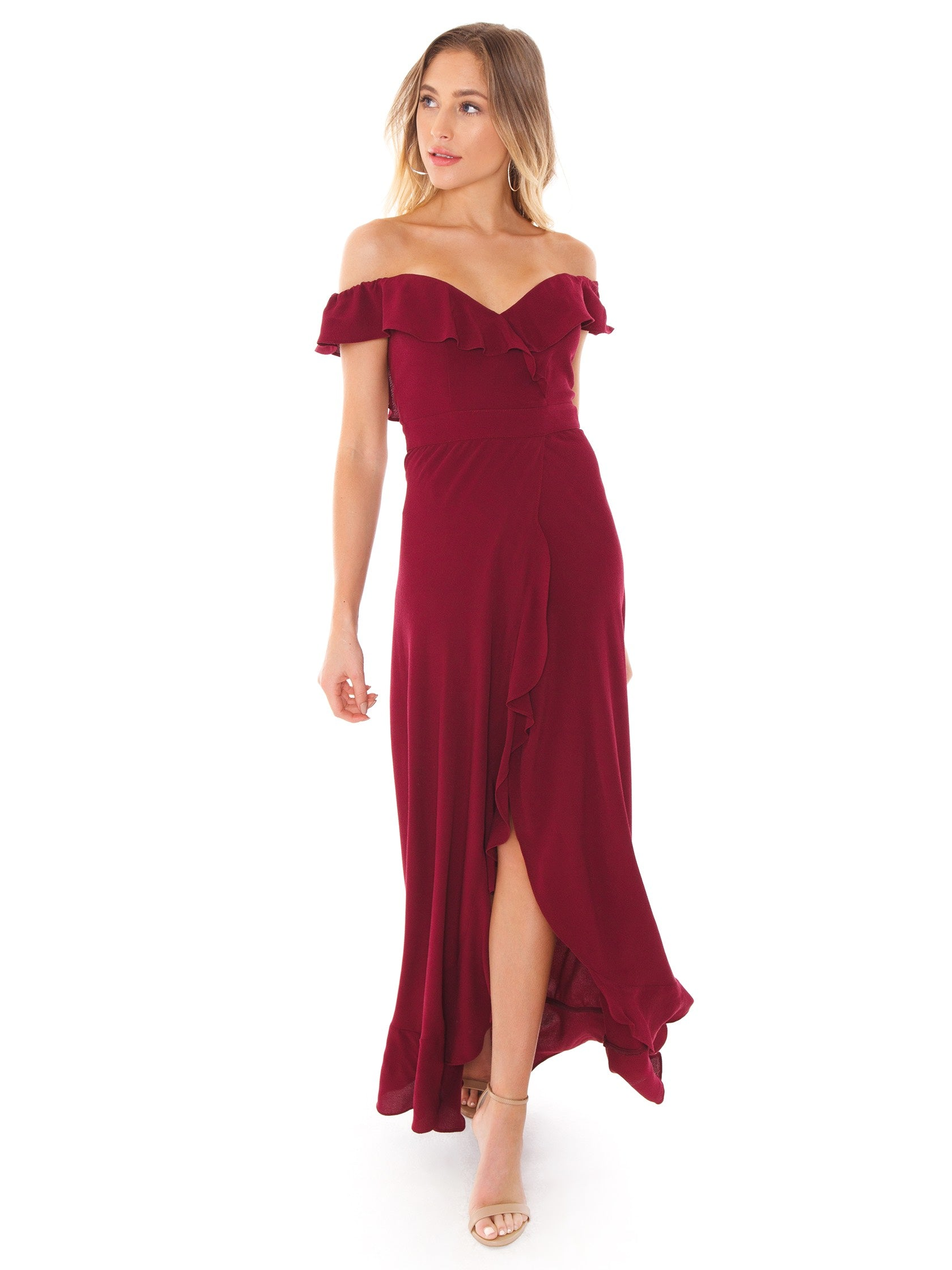 Women wearing a dress rental from Flynn Skye called Monica Maxi Dress