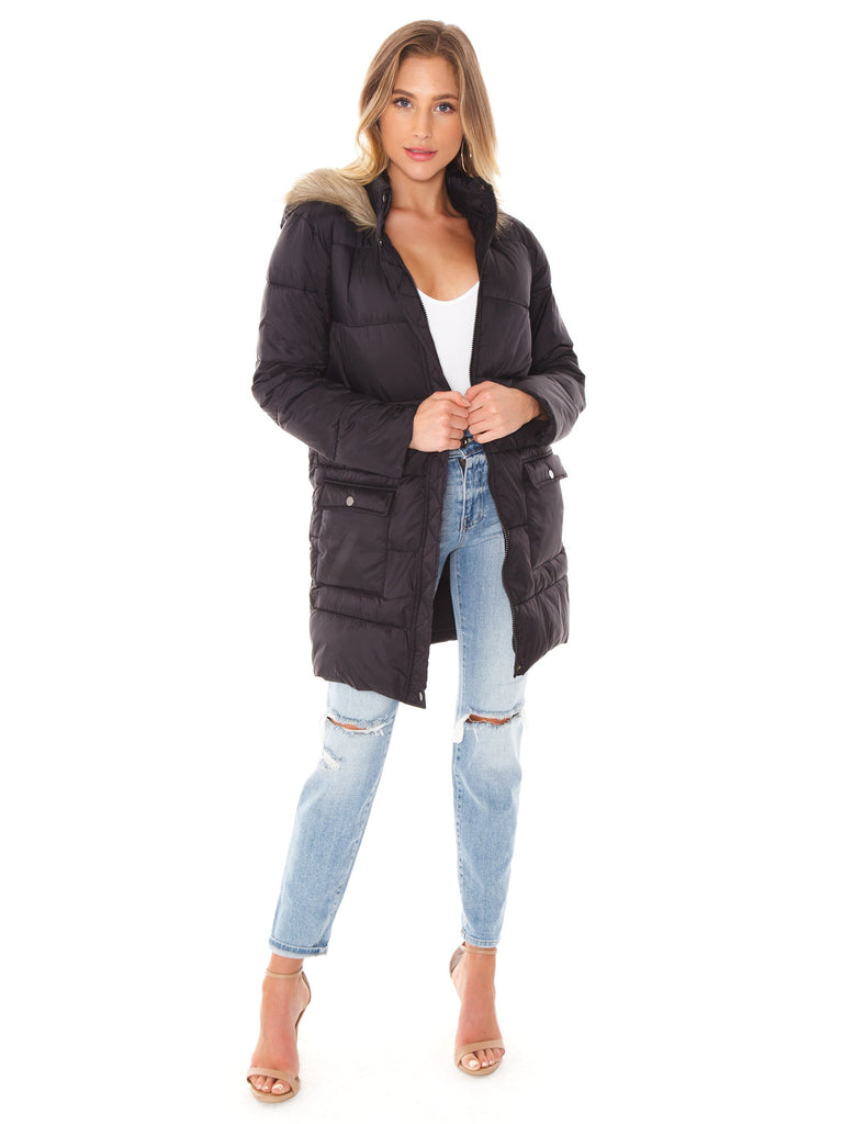 Women outfit in a jacket rental from BB Dakota called Warm Thoughts Wubby Jacket