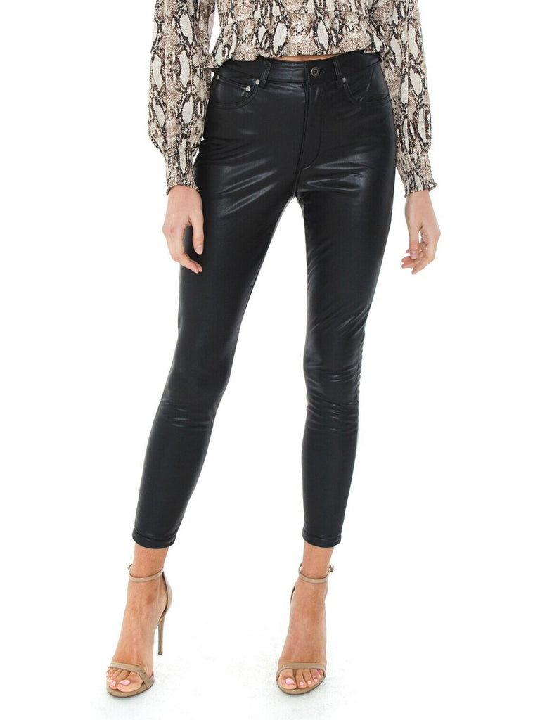 Girl outfit in a pants rental from BB Dakota called Fab Moment Faux Fur Jacket