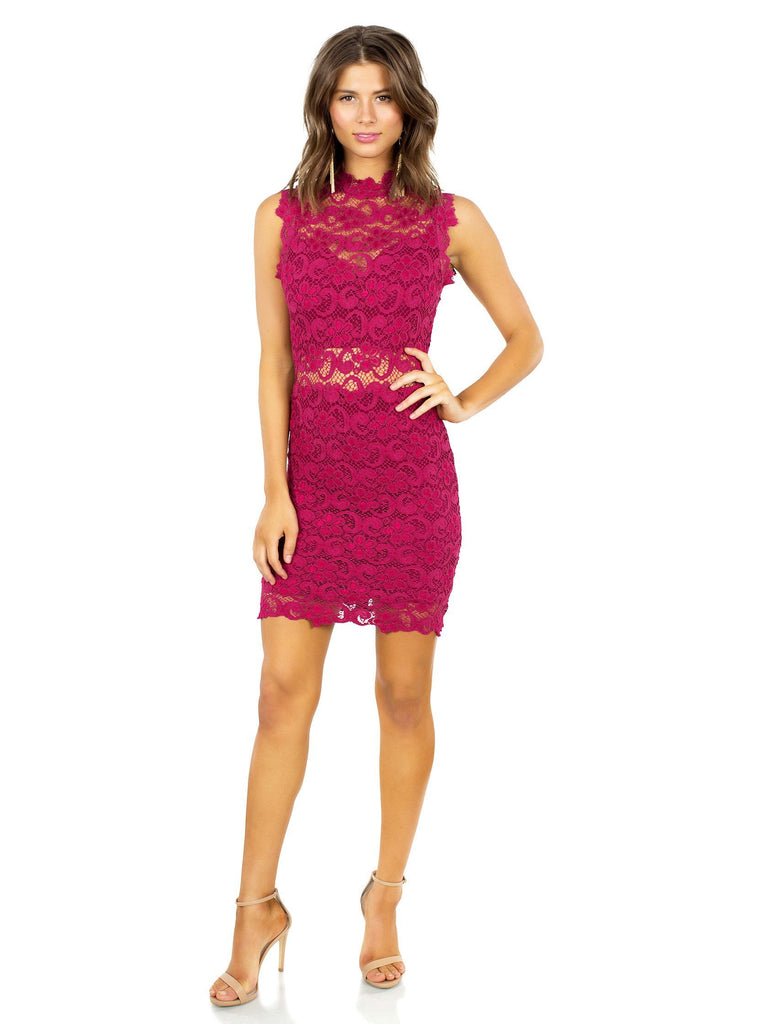 Women wearing a dress rental from Nightcap Clothing called Mayan Lace Gown