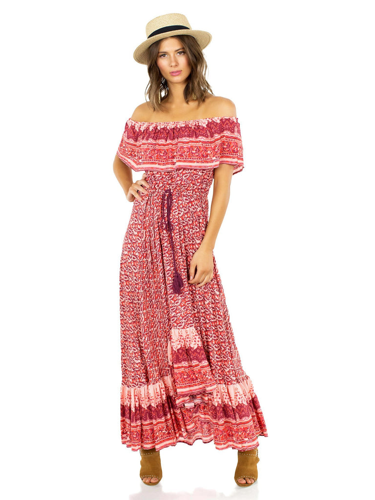 Girl outfit in a dress rental from Nightcap Clothing called Perfect Plunge Maxi Dress