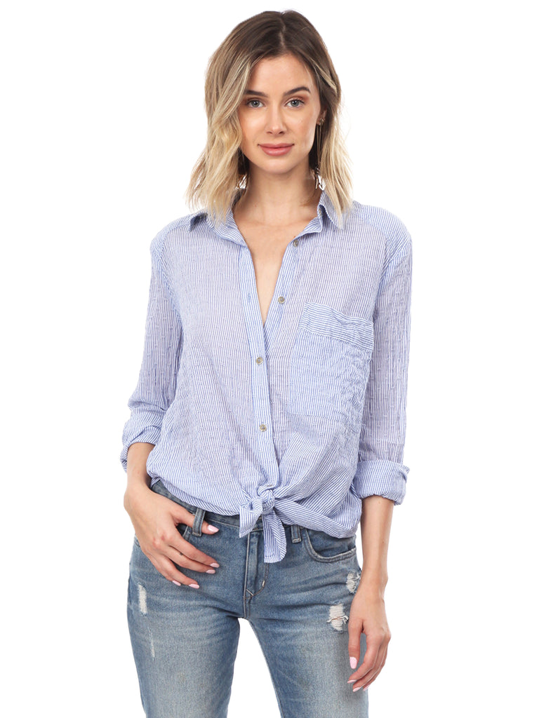 Women wearing a top rental from Free People called V Neck Sweater