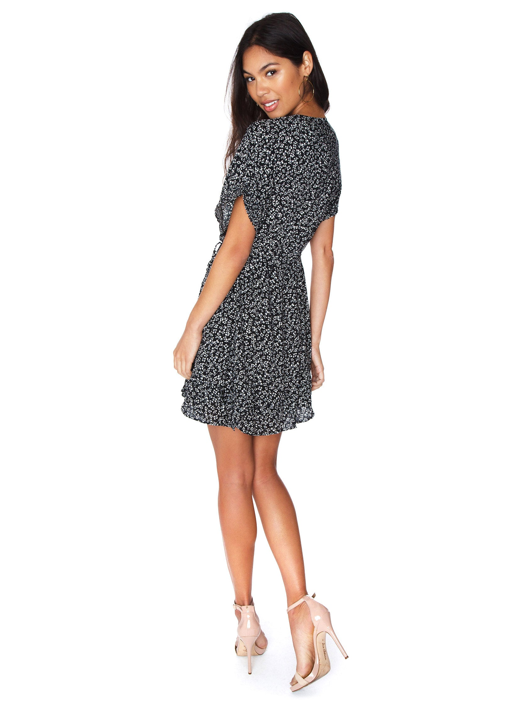 28e7ba53716 Women wearing a dress rental from Free People called One Fine Day Mini Dress