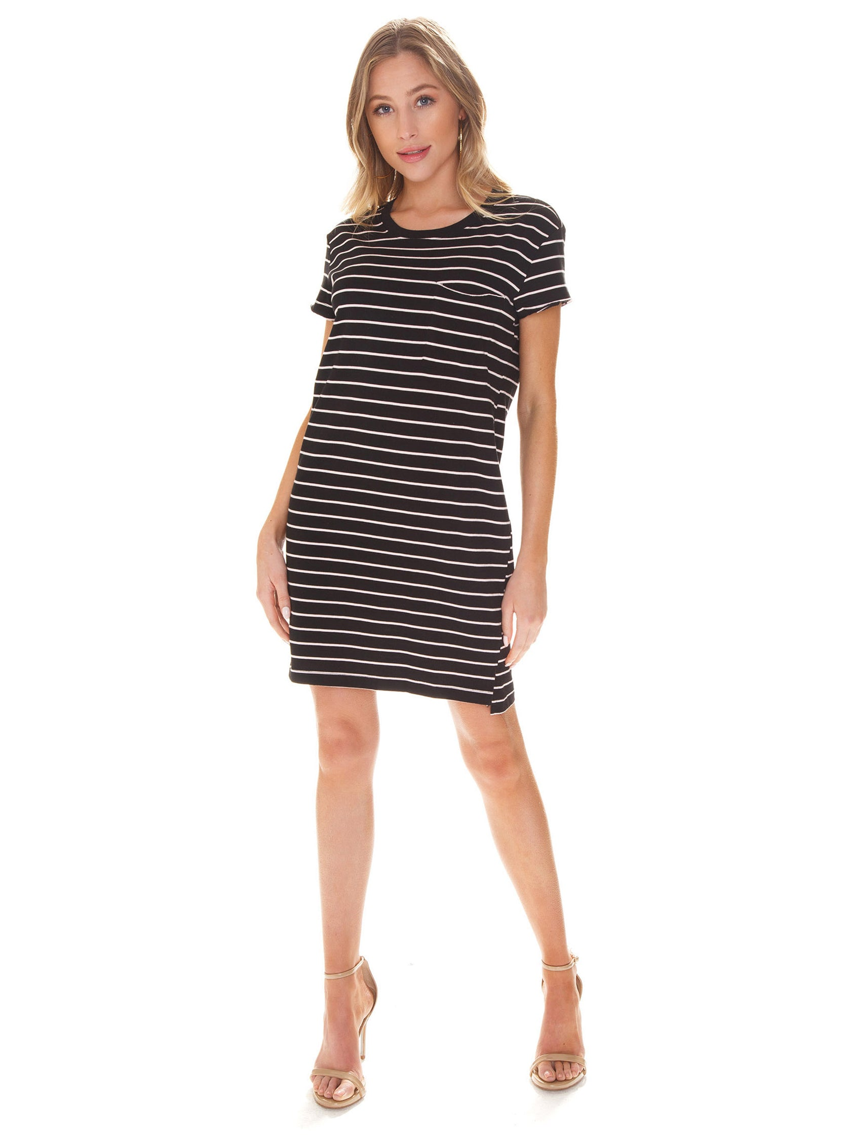 377026e88810 Girl outfit in a dress rental from SANCTUARY called One Pocket T-shirt Dress