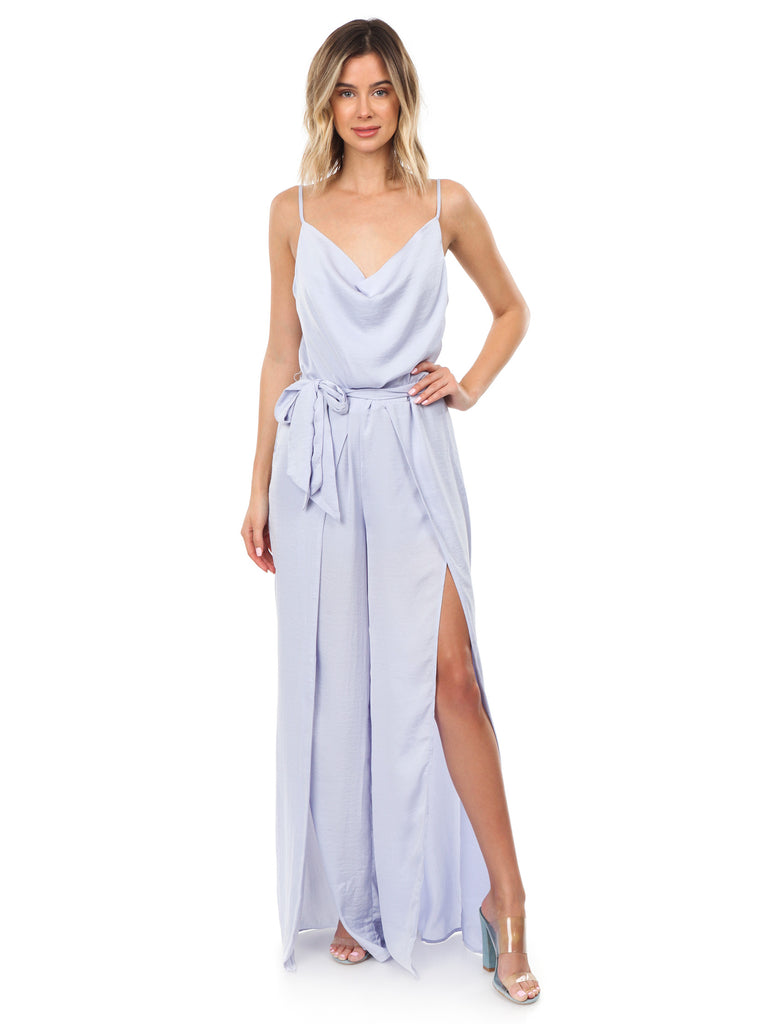 Women outfit in a jumpsuit rental from The Jetset Diaries called Gwyneth Ruffle Maxi Dress