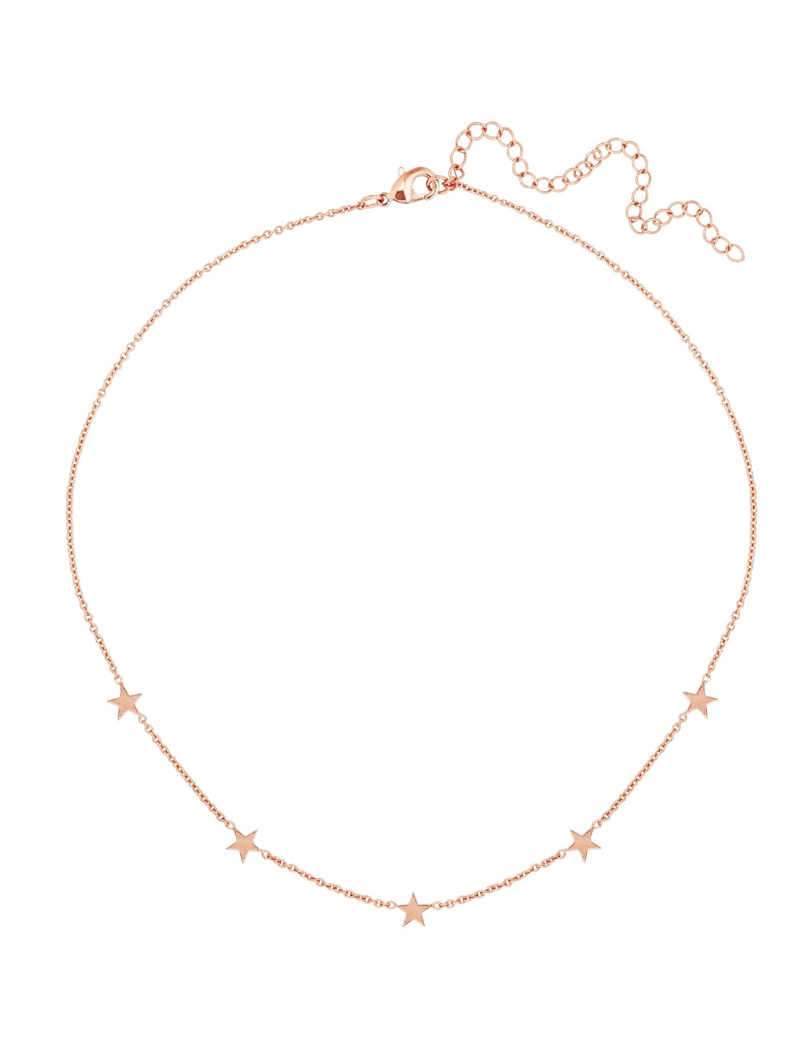 Women outfit in a necklace rental from Five and Two called Paige Rose Gold Choker Necklace