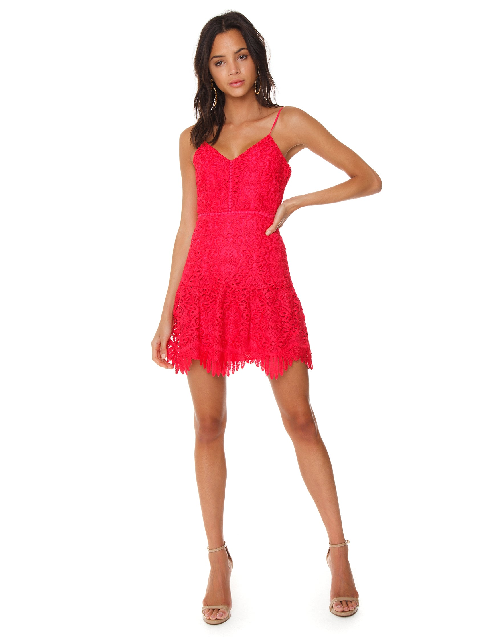 Girl outfit in a dress rental from BB Dakota called Party Has Arrived Dress