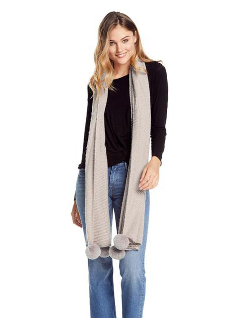 Woman wearing a scarf rental from Michael Stars called Give Me Your Cashmere Fingerless Gloves