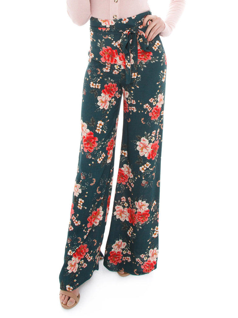 Woman wearing a pants rental from Flynn Skye called Kate Maxi