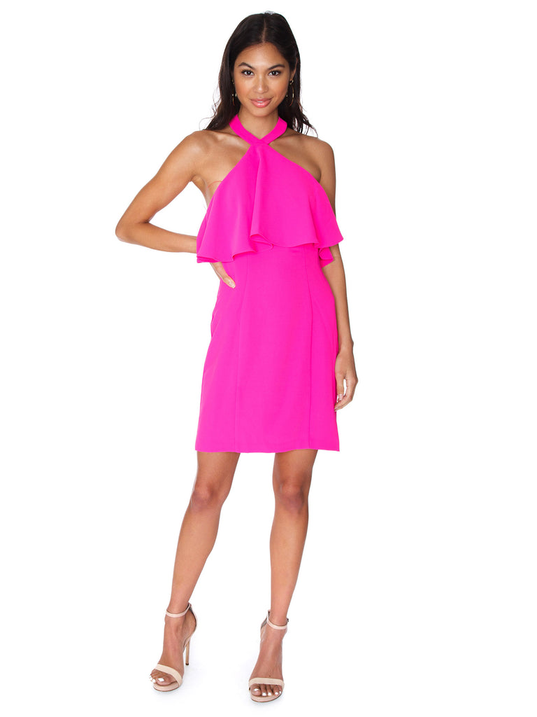 Women outfit in a dress rental from Amanda Uprichard called Heidi Ruffle Crop And Flirt Skirt