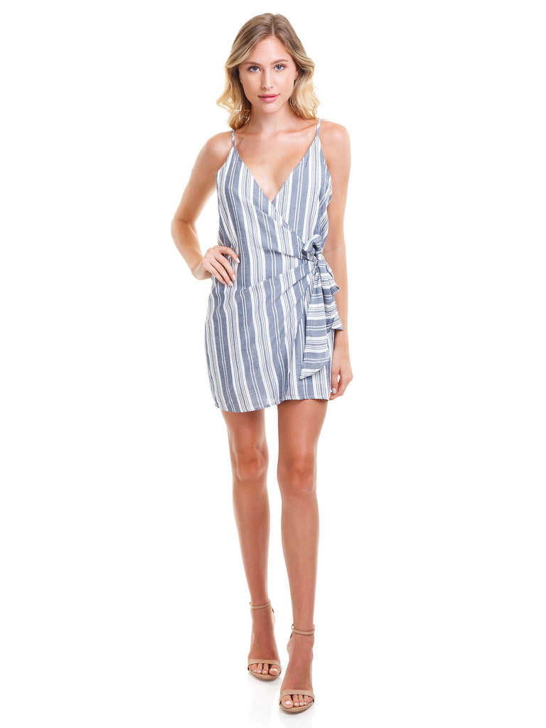Women wearing a dress rental from Cotton Candy called Piper Stripe Dress