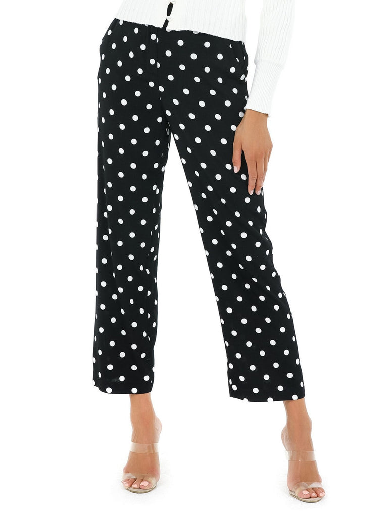Women wearing a pants rental from 1.STATE called Polka Dot Pants
