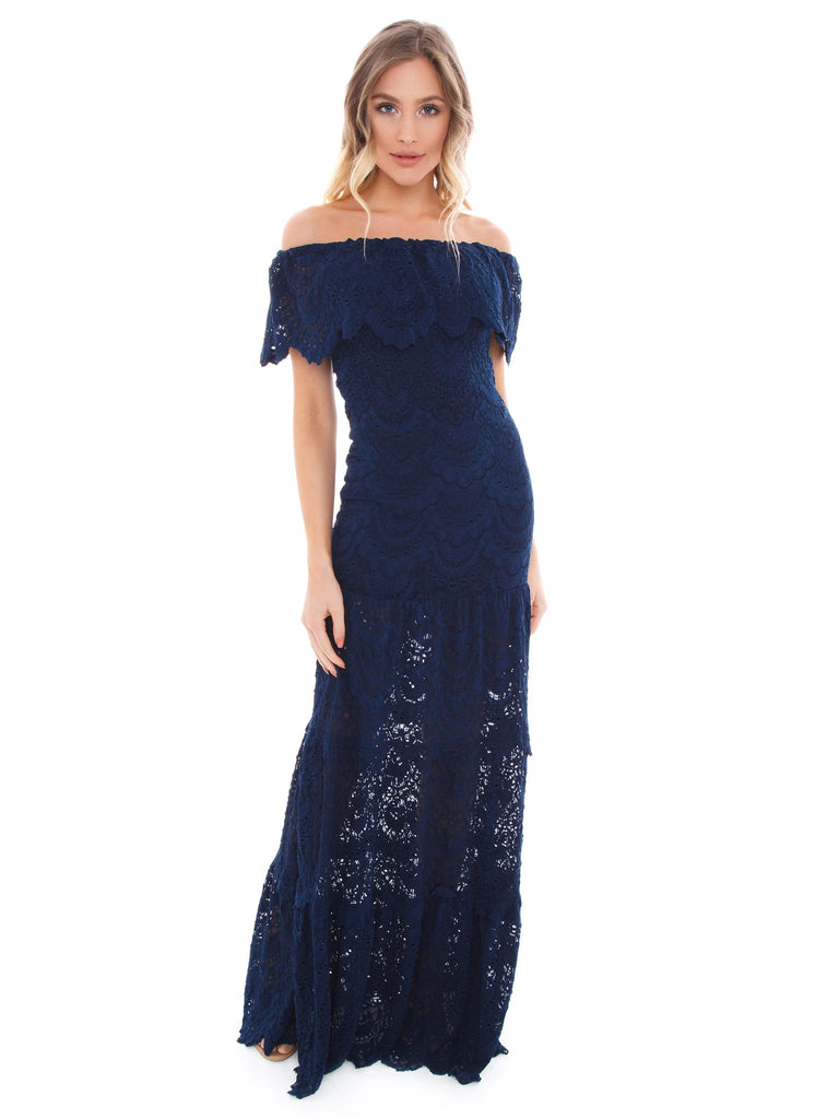 Women wearing a dress rental from Nightcap Clothing called Nicola Maxi Dress
