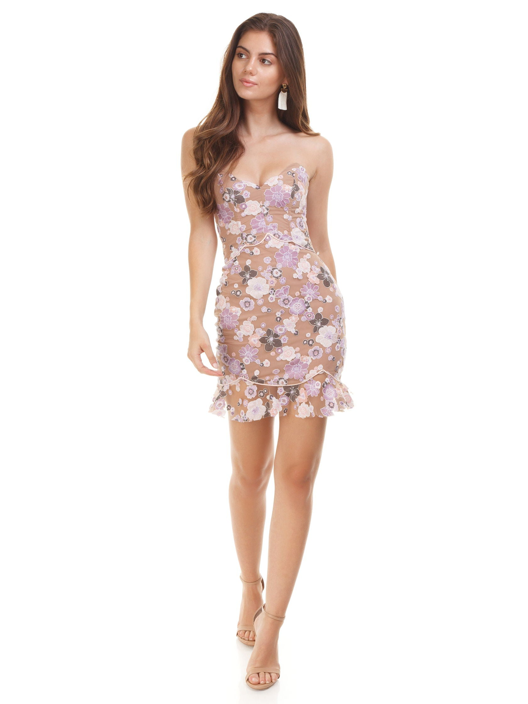 d537d6517a1 Girl outfit in a dress rental from For Love   Lemons called Posy Embroidery  Mini Dress