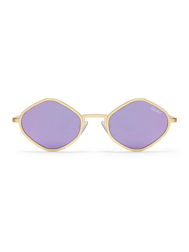 Women wearing a sunglasses rental from Quay Australia called Purple Honey Sunglasses