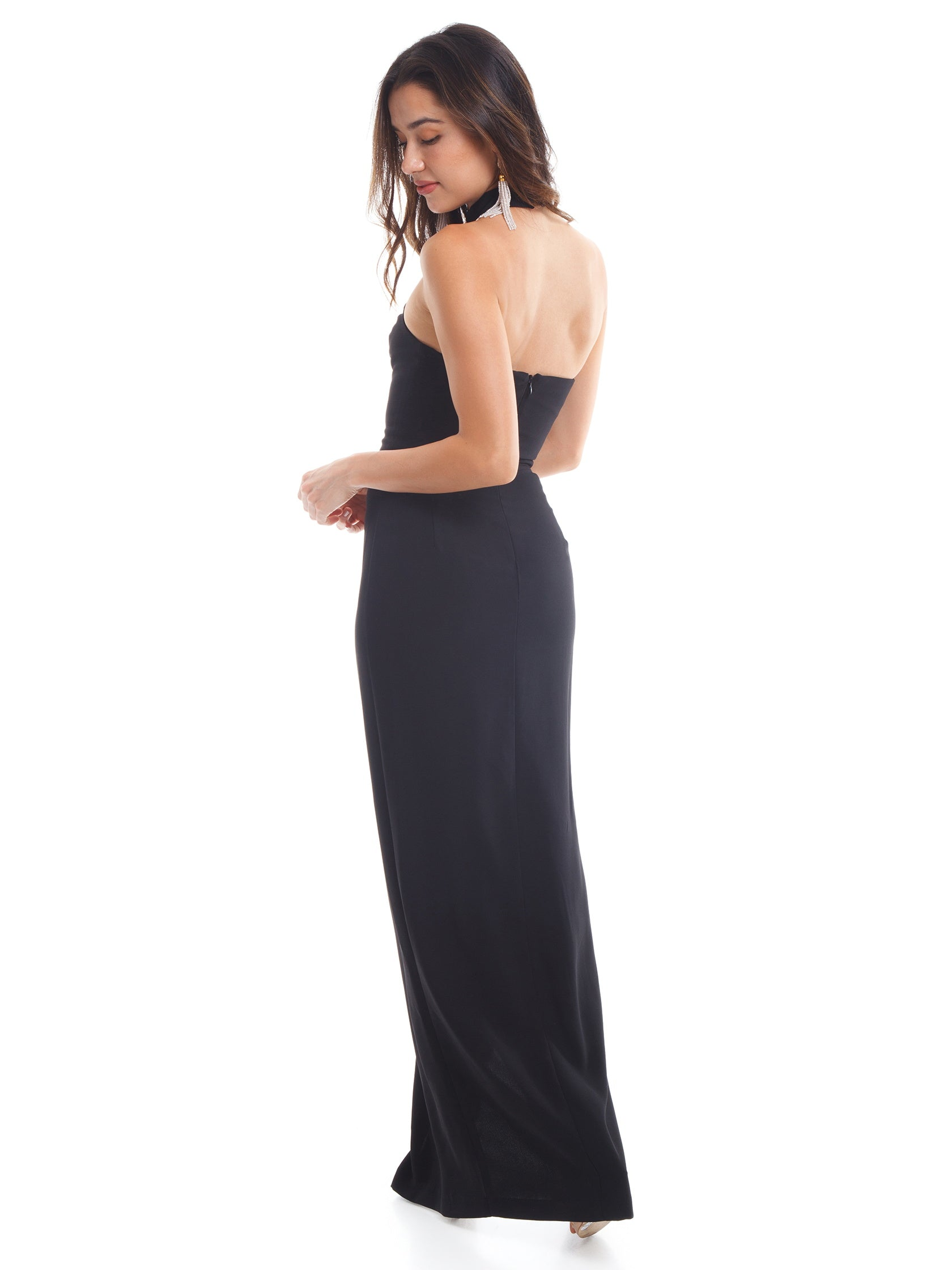 Amanda Uprichard Rental | Queen Gown in black- FashionPass