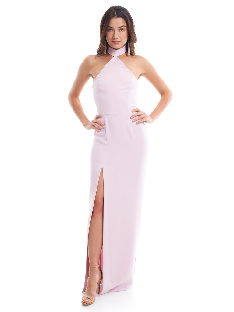 Women outfit in a dress rental from Amanda Uprichard called Abby Off Shoulder Tiered Maxi Dress
